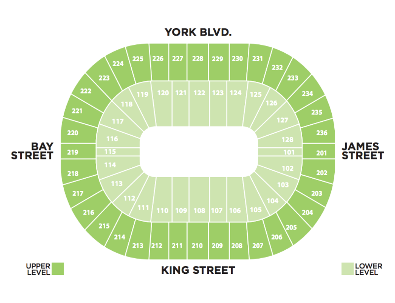 FirstOntario Centre -  Seating Chart