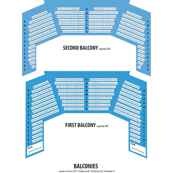 Seating charts core entertainment for Balcony seating