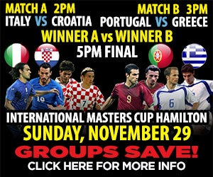 Groups Save on International Masters Cup Soccer