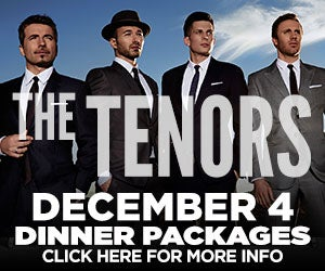 The Tenors Dinner Packages